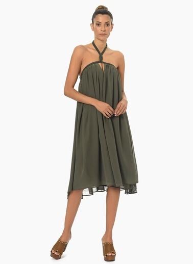 NetWork Kadın Haki Elbise 1053347 Haki